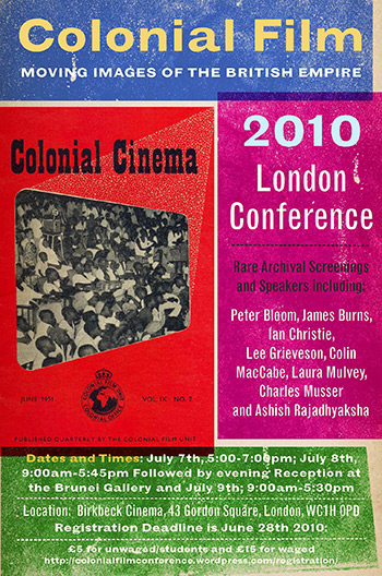 Colonial Film London Conference 2010